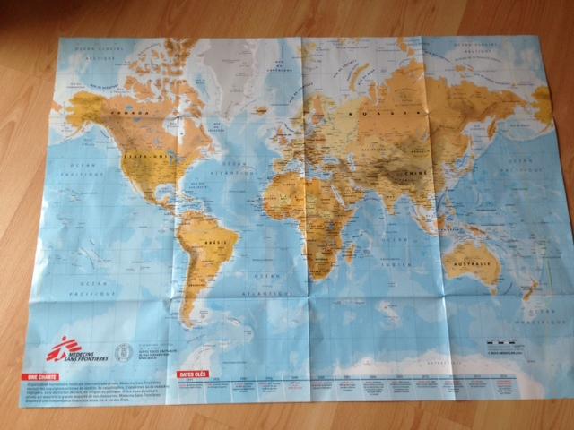 carte MSF 2014 où figure la palestine