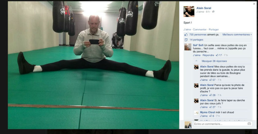 selfie Alain Soral