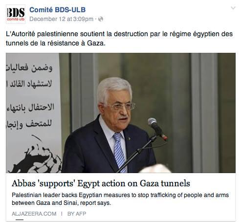 Le comité ULB-BDS soutient le Hamas