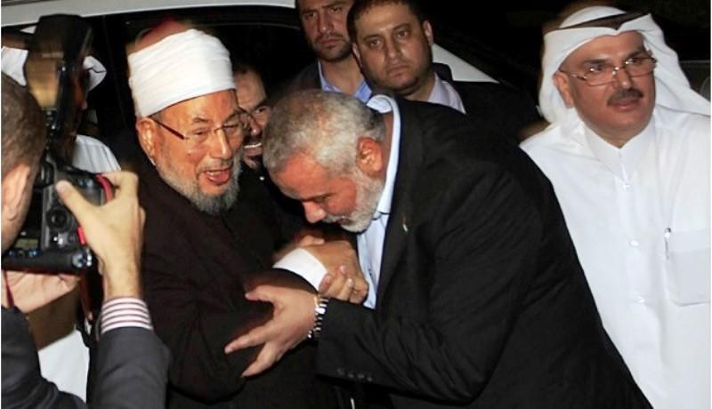 al Qaradawi  avec ses amis du Hamas