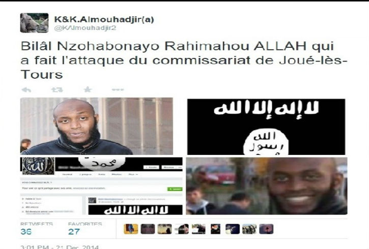 Réactions de djihadistes à la récente vague d'attentats en France «Regardez comme la France tremble… Allah U Akbar. et c'est pas fini…»