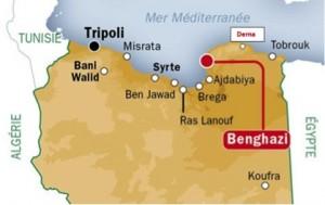 Carte de Libye